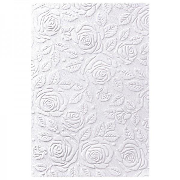 Exquisit-Grußkarten mit Top-Prägung, 13 x 19 cm, 10 Stück, Rosendesign