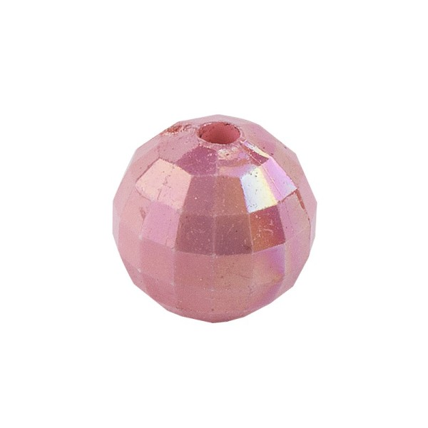 Perlen, facettiert, Ø 8mm, rosenholz-irisierend, 100 Stk.