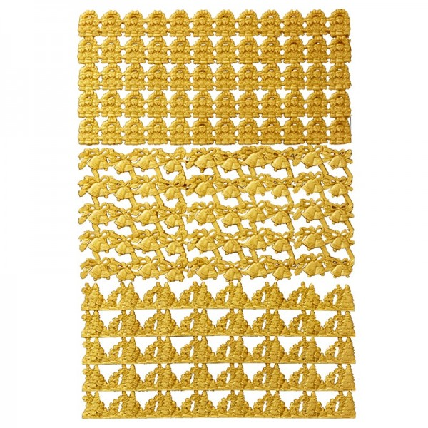 Wachs-Bordüren, Weihnachtlich, gold, 3 Stück