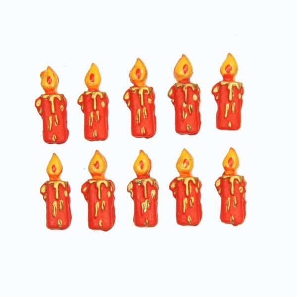 Relief-Kerzen, 2,5 x 1 cm, 10er Set