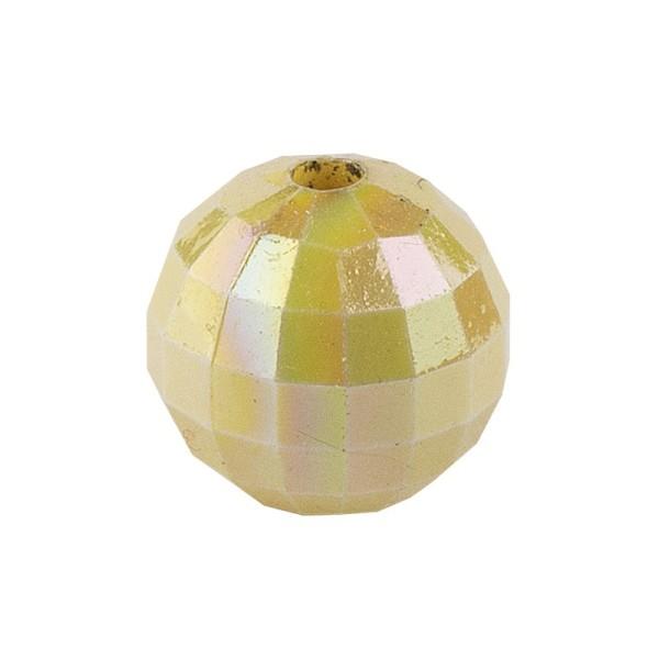Perlen, facettiert, Ø 10mm, hellgold-irisierend, 50 Stück