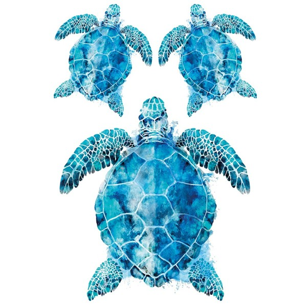 Color Bügeltransfers, DIN A4, Schildkröten