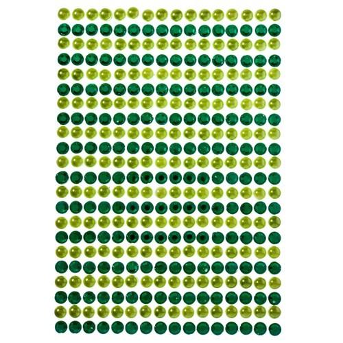 Schmuckstein-Reihen, selbstklebend, Ø5mm, grün