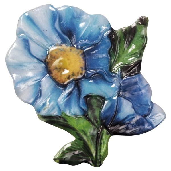 Wachsornament Blütezeit 1, farbig, geprägt, 7cm