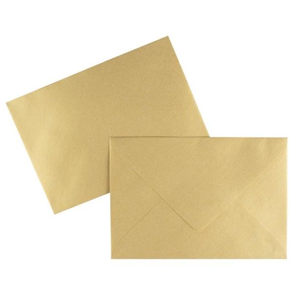 Umschläge, DIN C6, 120 g/m², gold, nassklebend, 100 Stück