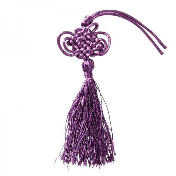 Quasten, 5er Set, 12,5 cm lang, violett