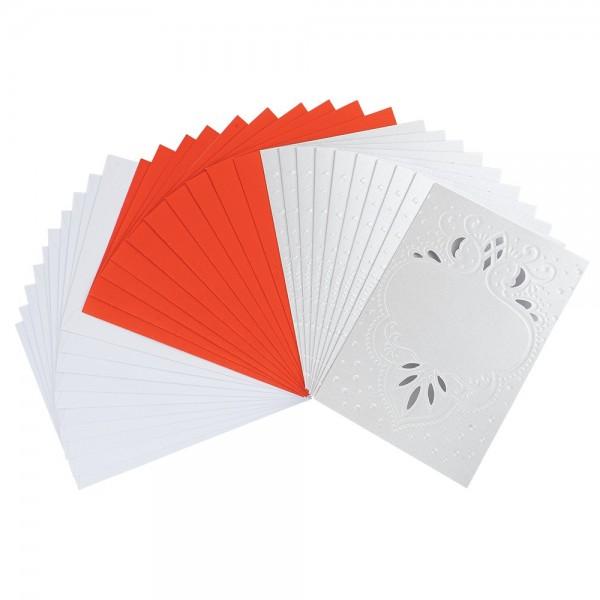 """Deluxe-Grußkarten """"Ornament"""", B6, 10 Stück, inkl. Einleger & Umschläge"""