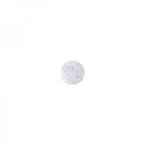 Hot-Fix Glitzer-Nieten zum Aufbügeln, Ø 6mm, weiß, 200 Stück