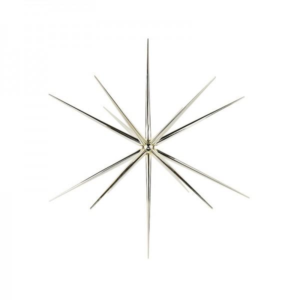 3-D Steckstern, Ø 24cm, 14-strahlig, inkl. Öse zum Aufhängen, hellgold