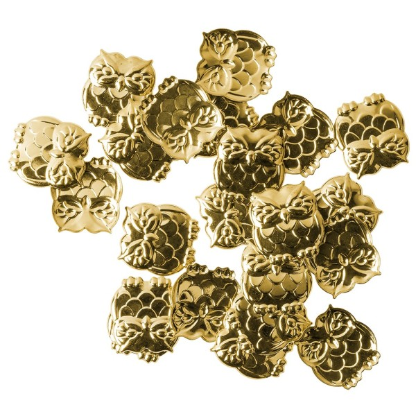 Messing Ornamente, Eule, 20 Stück