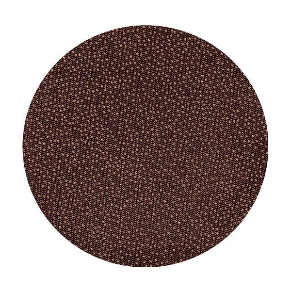 Satin-Kreise, Ø8cm, 50 Stück, Folien-Print-Punkte, mocca
