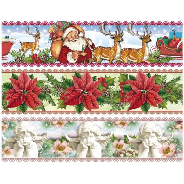 """Zauberfolien """"Weihnachtszeit"""", Schrumpffolien für Ø8cm, 7 cm hoch, 6 Stück"""