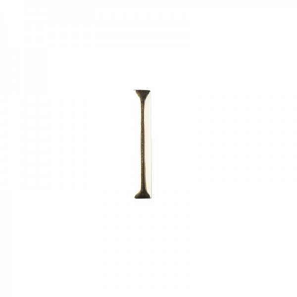 Hot-Fix Stäbchen-Nieten zum Aufbügeln, 2mm x 19mm, hellgold, 100 Stück