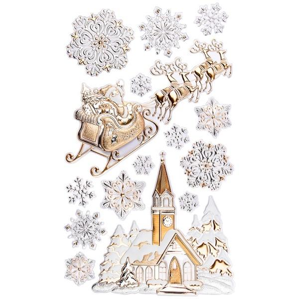 XL Relief-Sticker, Weihnachtsszene, 41cm x 24cm
