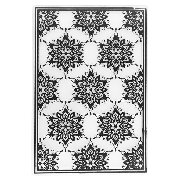 Prägeschablone, Eiskristalle, 15cm x 10cm