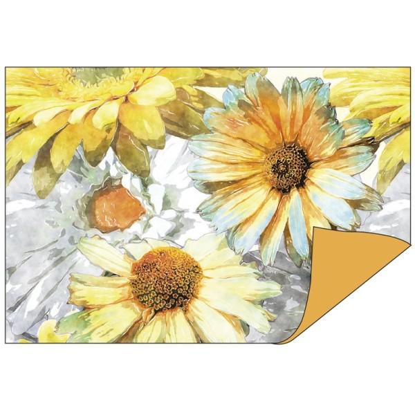 Faltpapiere Duo-Design 9, 10cm x 15cm, Blumen/terra, 50 Stück