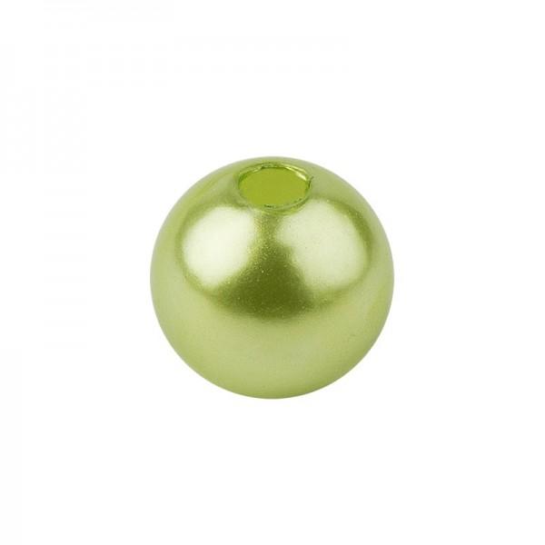 Perlmutt-Perlen, Ø1 cm, 50 Stück, hellgrün