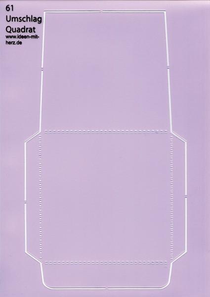 """Design-Schablone Nr. 61 """"Umschlag Quadrat"""", DIN A4"""