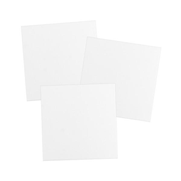 Leinwand auf Keilrahmen, 20cm x 20cm, 280g/m², weiß, 3 Stück