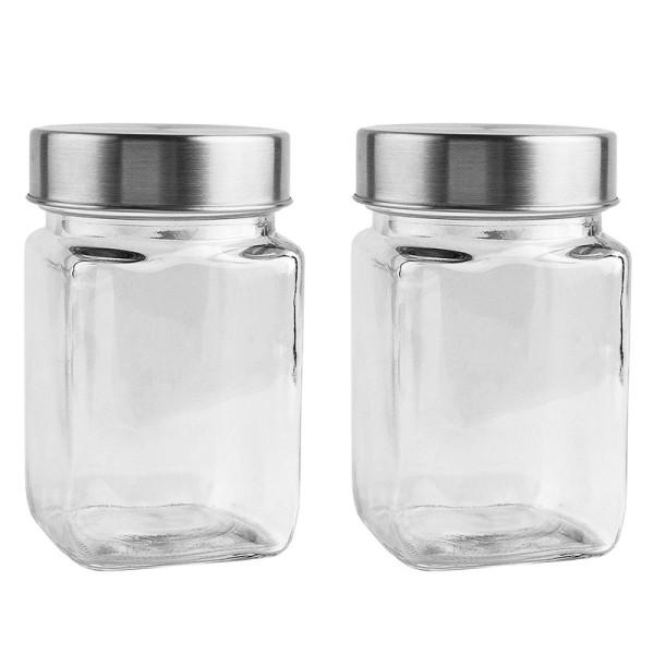 Gläser mit Schraubverschluss, 6,7cm x 6,7cm x 11cm, Füllmenge: 240ml, 2 Stück