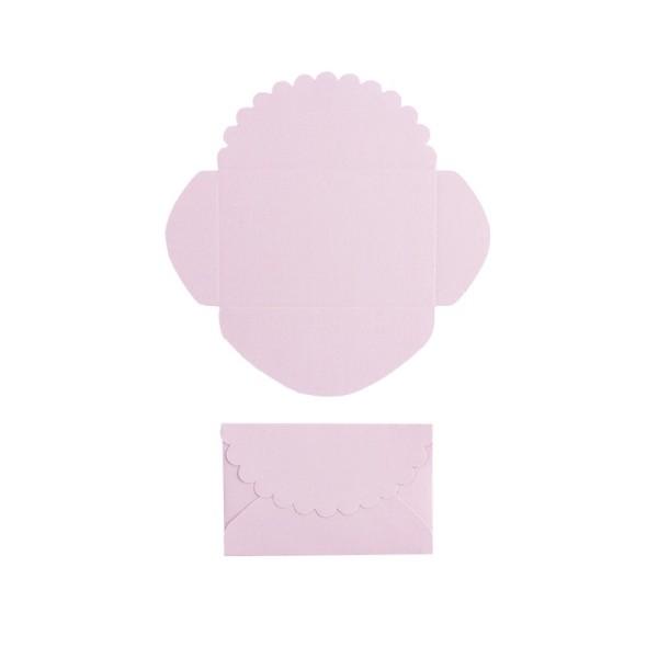 Mini-Umschläge, 2,9 x 4,6 cm, 100 Stück, rosé