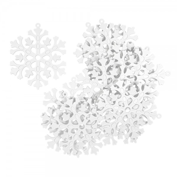 Deko-Eiskristalle 2, Rohlinge, Ø 12cm, 11 Stück