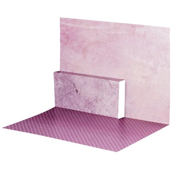 Pop-Up-Grußkarten-Einleger, gefaltet 11 x 15,5 cm, Punkte, beere