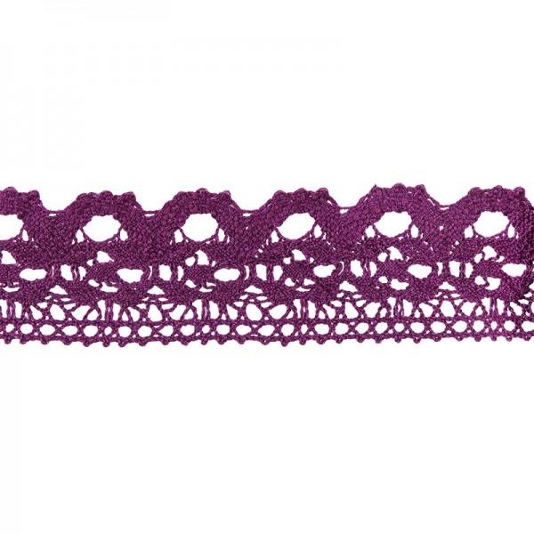 Häkelspitze Design 11, 2,8cm breit, 2m lang, aubergine
