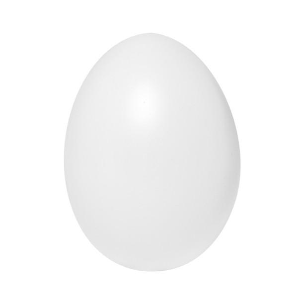 Kunststoff-Eier mit Loch, 6 cm hoch, Ø 4 cm, weiß, 25 Stück