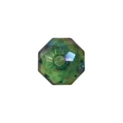 Acryl-Ronden, facettiert, 1 x 1 cm, 50 Stück, peridot