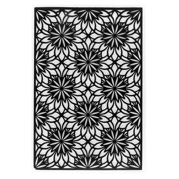 Prägeschablone, Hintergrund Floral 2, 15cm x 10cm