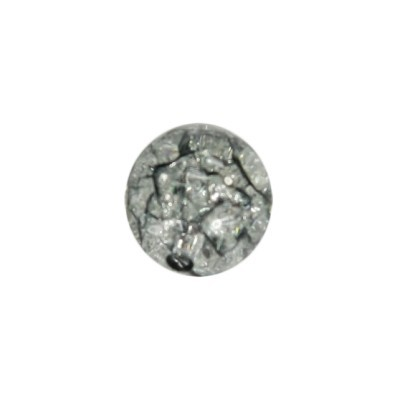 Perle, Krakelieroptik, Ø1 cm, rauchquarz, 10 Stück