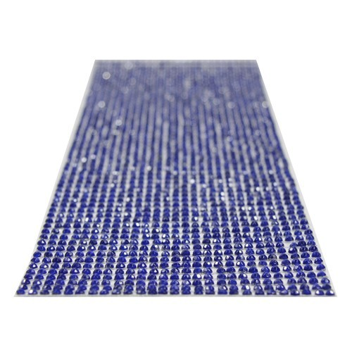 Glitzerstein-Bordüren, selbstklebend, rund, Ø3mm, blau
