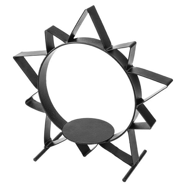 Metall-Sonne zum Stellen mit Podest, 22 cm hoch