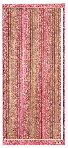 Microglitter-Sticker, Linien, 3,5mm, rosa