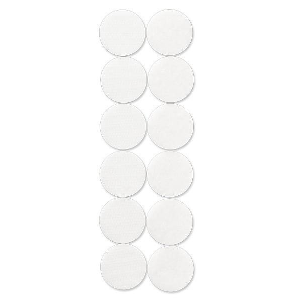 Klettpunkte, selbstklebend, Ø25mm, weiß, 6 Stück