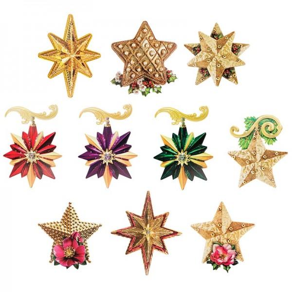 3-D Motive, Sterne, 8-15,5cm, 10 Motive