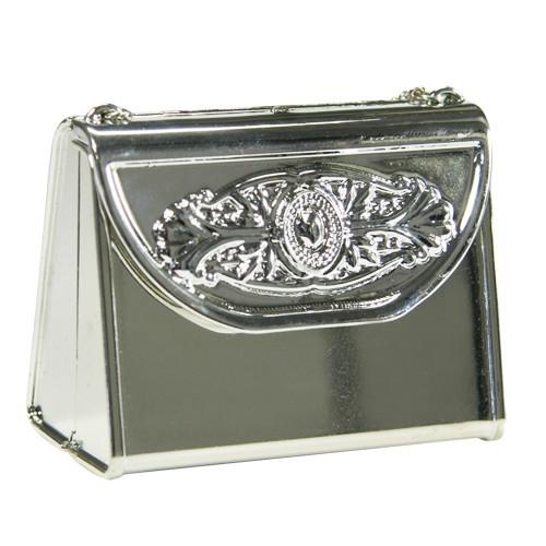 Acryl-Handtasche, opak, 7 x 3,7 x 5,5 cm, silber