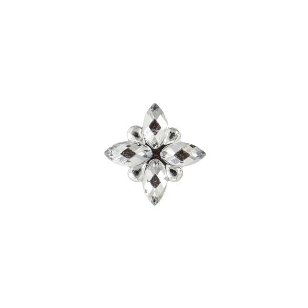 Ornament-Glitzersteine, 50 Stück, Design 6, klar