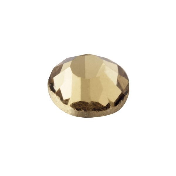 Hot-Fix Glas-Kristalle zum Aufbügeln, Ø5mm, 150 Stk., bernstein