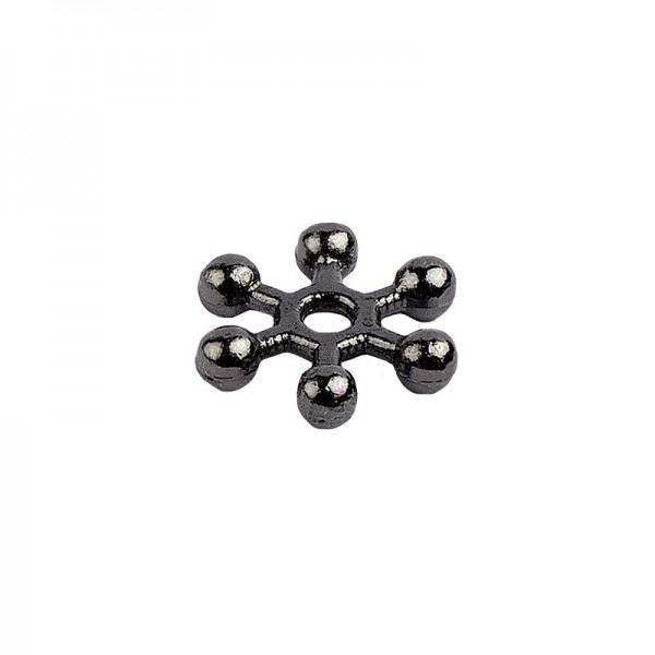 Perlenräder, Ø 1 cm, anthrazit, 150 Stück
