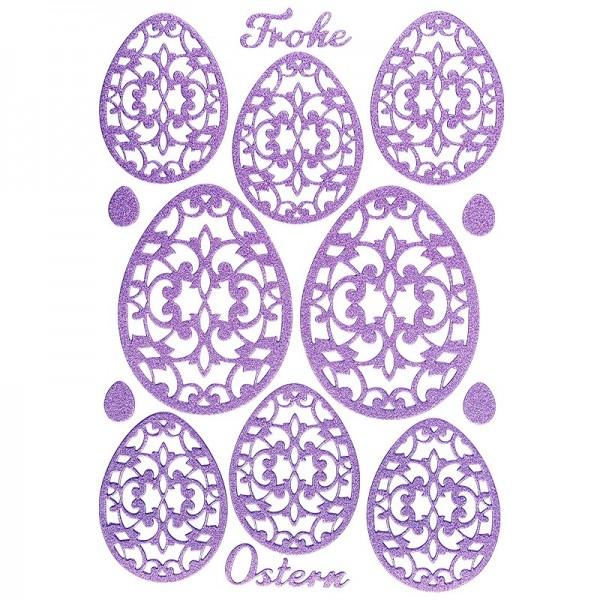 """3-D Sticker """"Deluxe Ostern"""", verschiedene Größen, selbstklebend, lavendel"""