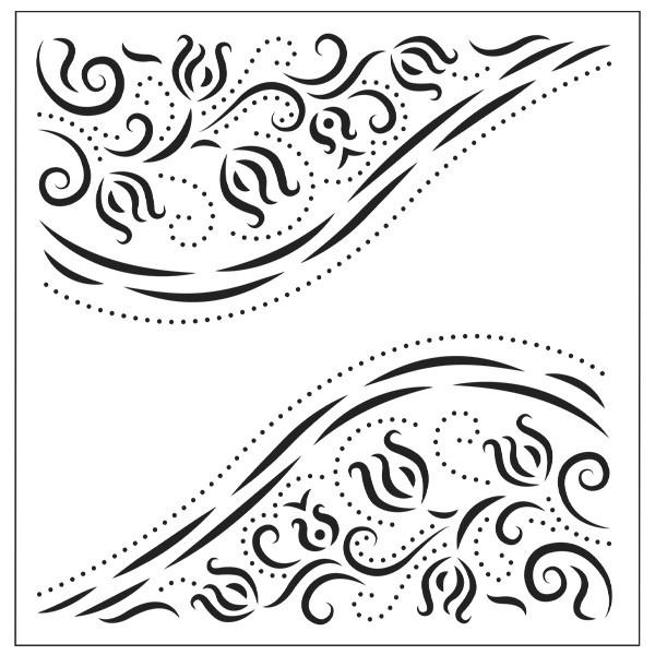 Präge-/Prickelschablone, 14,6 x 14,6 cm, Design 3