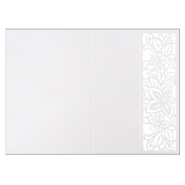 Laser-Grußkarten, Lilie, B6, naturweiß, inkl. Einleger und Umschläge, 5 Stück
