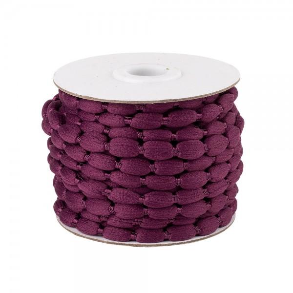 Pompon-Band, Ø 1cm, 10m, auf Rolle, aubergine