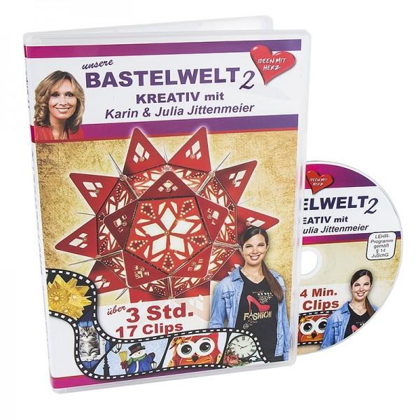 DVD, Unsere Bastelwelt 2, 17 Clips, 194 min, J. & K. Jittenmeier