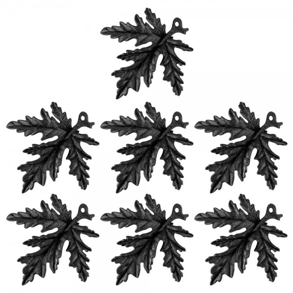 Deko-Blätter, Rohlinge, 17,5cm x 17cm x 1,5cm, mit Öse zum Aufhängen, 7 Stück