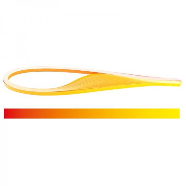 Quilling-Papierstreifen, Farbverlauf, 3 Größen (5mm, 7mm, 10mm), 54cm lang, rot/gelb, 150 Stück
