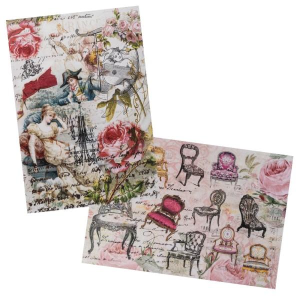 Reispapiere, Nostalgie 14, DIN A4, 2 Designs