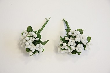 Deko-Beeren, Weiß, 20 Stück